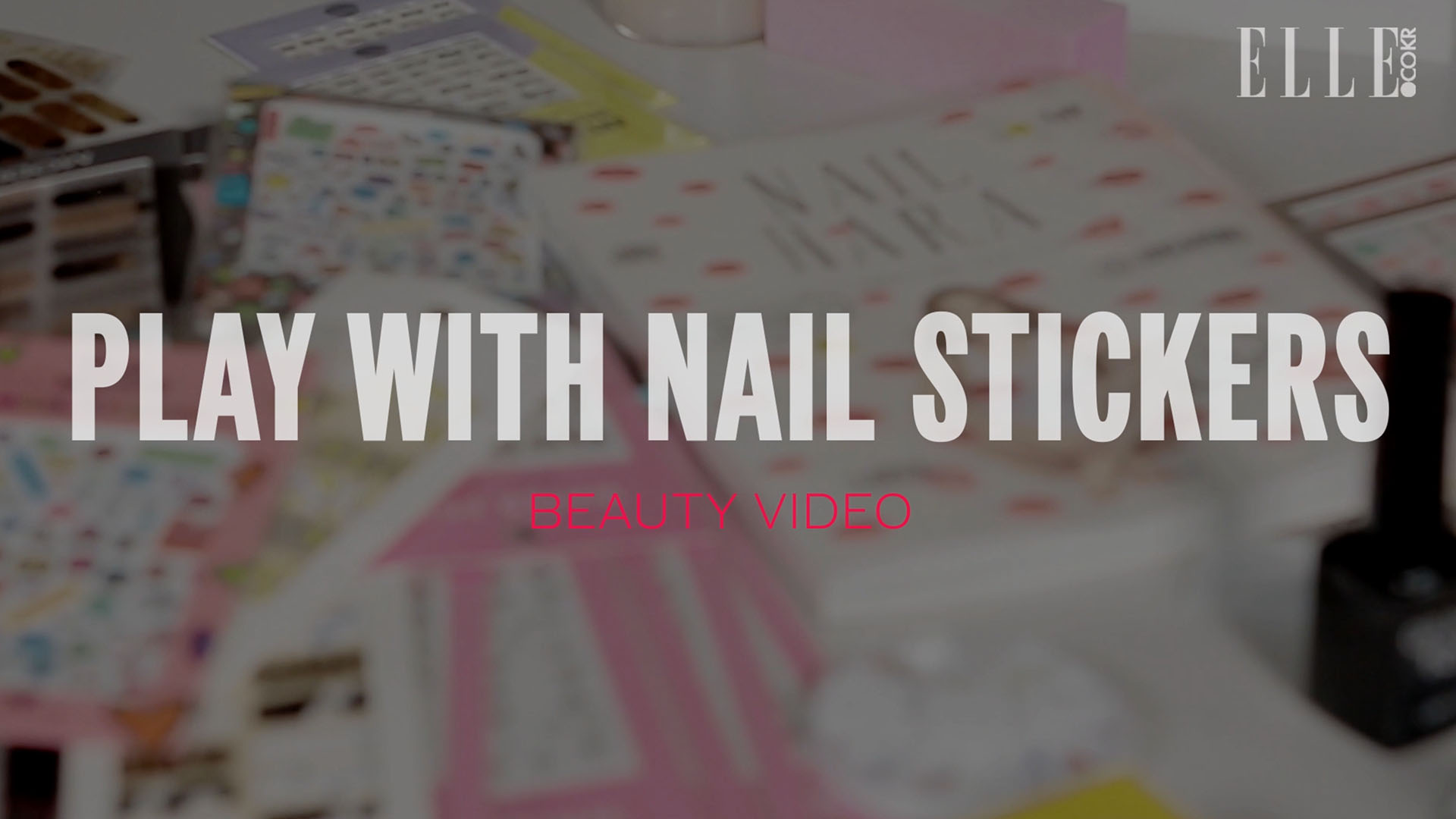 PLAY WITH NAIL STICKERS