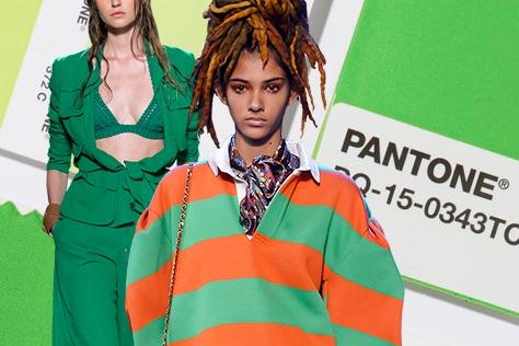 패션, 초록으로 물들다