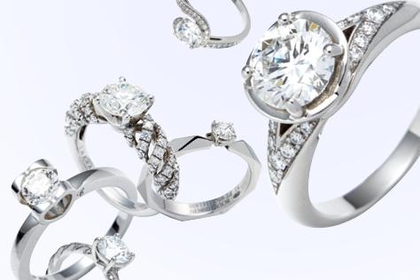럭셔리 다이아몬드 웨딩 링