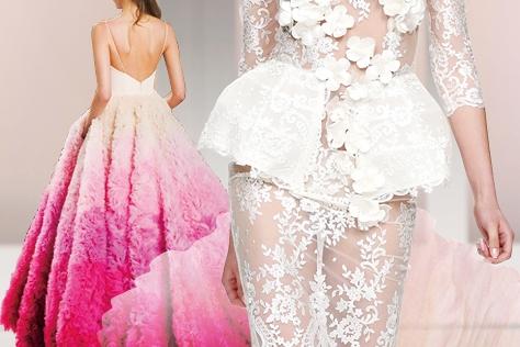독특한 스타일의 웨딩 드레스