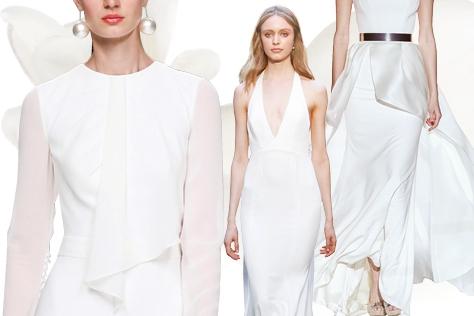 미니멀 스타일의 웨딩 드레스