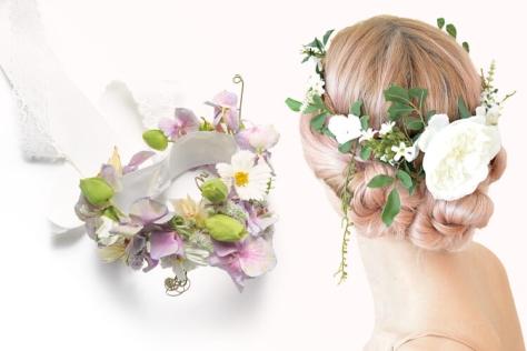 꽃을 두른 머리