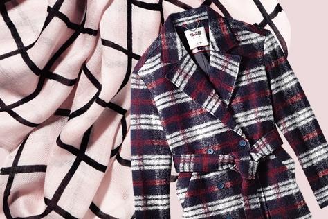 옷장 속 잠들어 있던 클래식한 체크 패턴의 대반란.::체크,체크무늬,글렌체크,깅엄체크,하운즈투스,아이템,쇼핑,엘르,elle.co.kr::