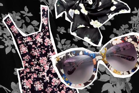 꽃을 입은 여자는 행복하다. 어둠 속에 피어난 플라워 패턴 열전.::플라워,플라워 패턴,프린트,로맨틱,꽃무늬,패턴,패션,블랙,아이템,쇼핑,엘르,elle.co.kr::