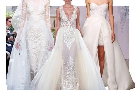 제아무리 화려하고 우아한 드레스라 할지라도 정작 내게 꼭 맞는 웨딩드레스는 따로 있다. 로망을 실현시킬 꿈의 드레스를 찾고있다면 주목! 여섯 번째 오버 스커트에 대하여. ::웨딩드레스, 트렌드, 본식, 웨딩드레스 고르기,오버스커트,드레스, 드레스트렌드, 2016트렌드, 결혼, 결혼식, 신부, 웨딩, 브라이드, 엘르 브라이드, 엘르, elle.co.kr::
