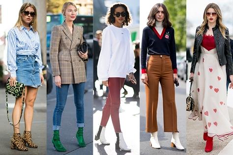 앵클부츠를 신고 싶지만 다리가 두꺼워 보일까 걱정하고 있다면 주목! 패션 피플들의 앵클부츠 스타일링법을 공개한다. ::앵클부츠,스타일링,패션 피플,가을부츠,두꺼운 다리,엘르,엘르걸,elle.co.kr::