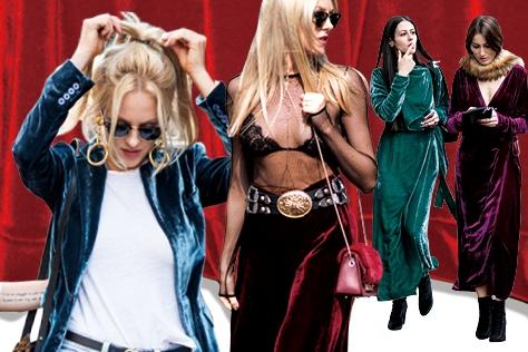 거리 위를 점령한 패션 스웨거들이 전하는 벨벳의 신비로운 아우라 ::벨벳,파파라치,패션스웨거,스트릿,트렌드,패션,엘르,elle.co.kr::