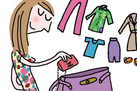 우린 그것을 파우치 혹은 핸드백이라 부르죠. 작은 가방이 필요한 12가지 이유::soledad,솔대드,일러스트,만화,핸드백,가방,엘르,elle.co.kr::