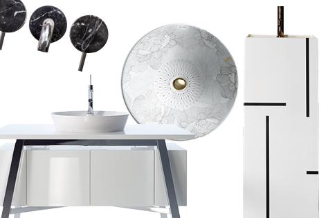잠에서 깨 제일 먼저 찾아가는 곳은 바로 욕실. 졸린 눈이 확 떠질 디자인 욕실 하드웨어들::엘르,데코,elle,elle.co.kr,욕실,욕조,세면기,Kohler,Duomo Bagno,Saturn Bath,Kartell, Villeroy and Boch,Duravit::