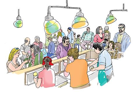 포틀랜드의 아이스크림은 무슨 맛?! 씩씩하게 사는 법을 전하는 괴상한 포틀랜드의 맛을 찾아서.::포틀랜드, 미국, 선현경, 이우일, 일러스트레이터, 동화작가, 작가, 여름, 아이스크림, 휴가, 요리, 음식, 푸드, 맛스타그램, 엘르, elle.co.kr::