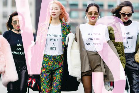 지금 페미니즘은 본질에 집중하고 있는가?::페미니즘,패션계,패미니즘,여성운동,슬로건,슬로건티,여성인권,평등,인권,vs,여성,패션,엘르,elle.co.kr::