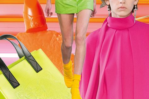 모던하게 변주된 쇼킹 컬러 이펙트::네온,형광,컬러,아이템,패션,엘르,elle.co.kr::