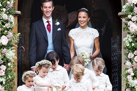 케이트 미들턴 왕세손비의 여동생, 피파 미들턴의 사랑스럽고 로맨틱한 웨딩 마치