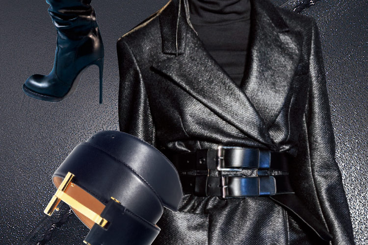 매끈하고 날렵한 블랙 액세서리를 장착한 여전사 트리니티의 부활::블랙,검정,검정색,컬러,색깔,액세서리,엘르 액세서리,엘르,elle.co.kr::