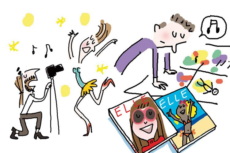 지난 25년간 한 달에 한 번씩! 참으로 끈기있게 잘 만들어온 우리 잡지, <엘르>::25주년, 잡지, 매거진, 솔대드, 솔데드, soledad, 일러스트, 만화, 엘르, elle.co.kr::