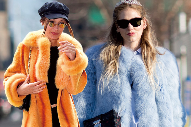 냉랭한 공기 가득한 겨울 거리를 포근하고 환하게 밝혀줄 '캔디 퍼 코트'::패션, 스타일, 겨울, 스트리트, 스트릿, 퍼, 퍼코트, 엘르, elle.co.kr::