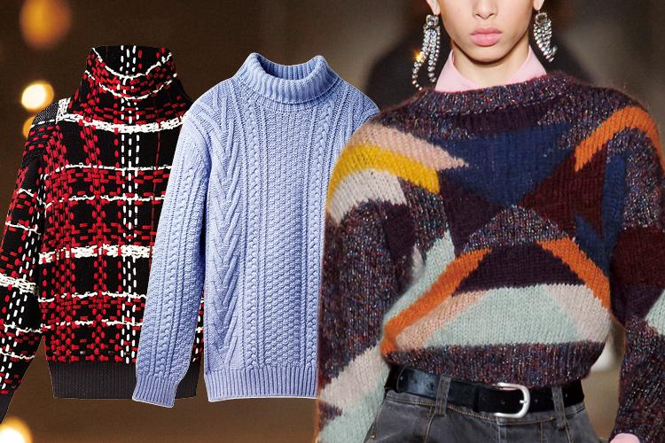 혹독한 추위를 스타일리시하게 이겨내 줄 개성 만점의 벌키 니트 톱::니트,벌키니트,니트톱,겨울,겨울옷,스웨터,패션,엘르,elle.co.kr::