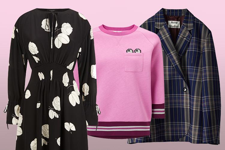끝나가는 겨울에 두툼한 옷을 사는 게 꺼려진다면? 지금 사서 봄까지 입을 수 있는 아이템을 구입할 것!::봄,겨울,패션,데일리룩,스커트,체크재킷,원피스,플라워,핑크,스타일,엘르,elle.co.kr::