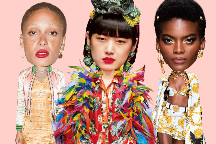 산 넘고 물 건너 오대륙을 지나 패션 신을 풍성하게 만드는 개성 넘치는 모델들::모델,개성,패션모델,런웨이,패션,엘르,elle.co.kr::