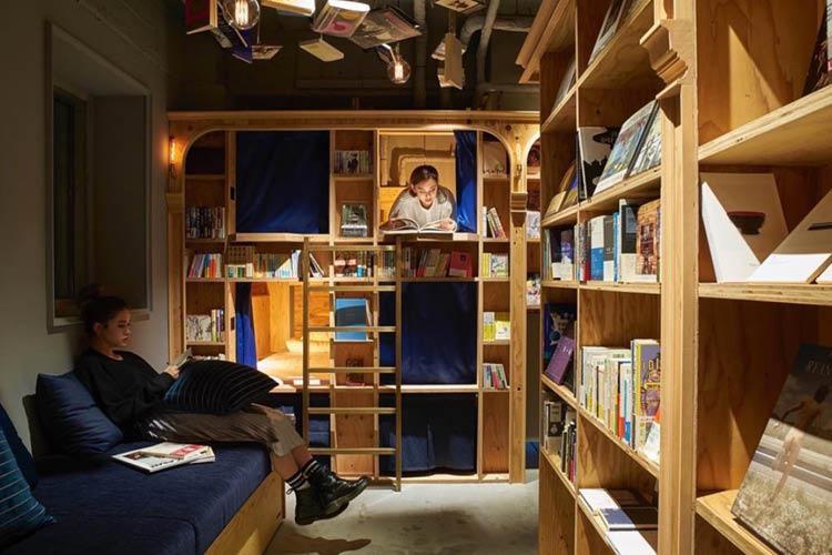 호텔이 달라졌다. 이른바, 호텔의 '문화 공간화'. 여행자는 호텔에서 그 나라의 문화 체험을, 지역 사람들은 문화 생활을 즐길 수 있게 되었다 ::호텔, 여행, 대만, 일본, 부산, 서점, 책, 엘르, elle.co.kr::