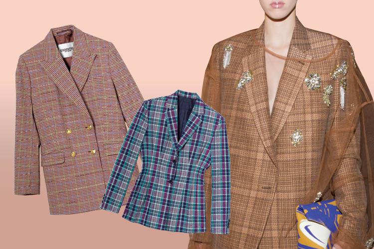 담백한 깅엄 체크부터 클래식한 글렌 체크까지 옷장 속 체크 재킷을 점검할 시간! ::체크, 체크재킷, 산드로, 타탄체크, 재킷, 엘르, elle.co.kr::