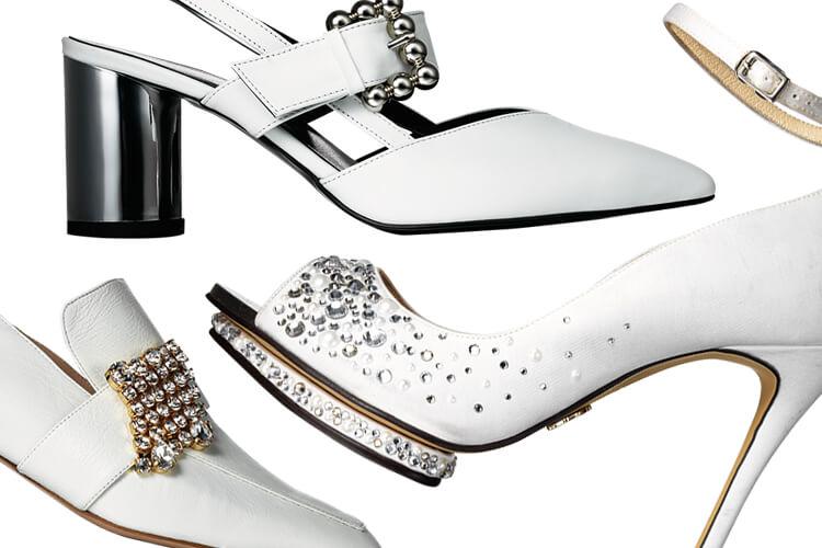 당신의 발끝까지 완벽한 날을 만들어줄 순백의 구두::구두,웨딩슈즈,화이트,웨딩드레스,결혼식,결혼준비,신부,브라이드,엘르,elle.cor.kr::