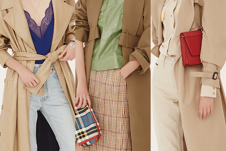 늘 입었던 트렌치코트를 새롭게 입는 스타일링 팁은 바로 이것!::트렌치,트렌치코트,스타일링,코디,옷입기,봄옷,하우투,패션,엘르,elle.co.kr::