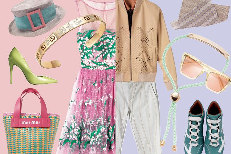 봄 느낌 물씬 나는 신랑신부 룩을 위한 모든 것::로맨틱룩,커플룩,파스텔,신행지,결혼,결혼식,신부,웨딩,브라이드,엘르 브라이드,엘르,elle.co.kr::