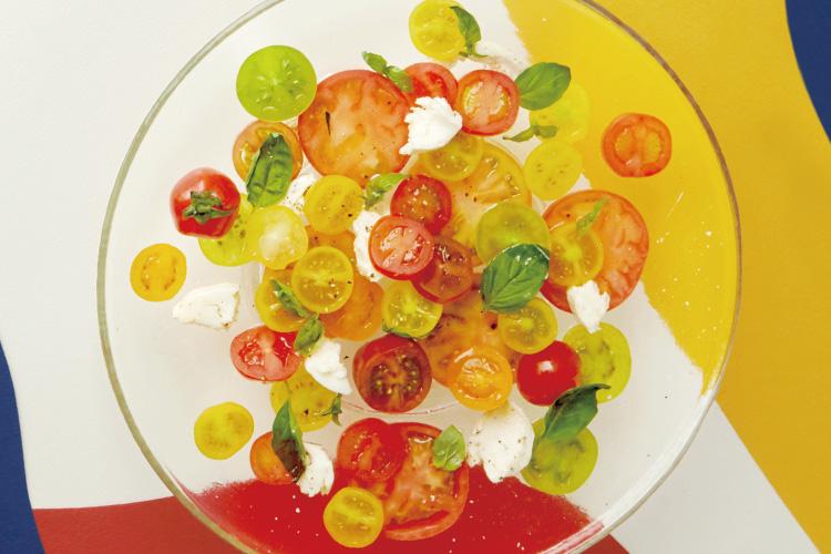 마티스의 컷아웃 콜라주처럼 꾸민 식탁 위에 차려낸 봄 맛 나는 샐러드::샐러드,음식,레시피,만드는법,박세훈,푸드,엘르,elle.co.kr ::