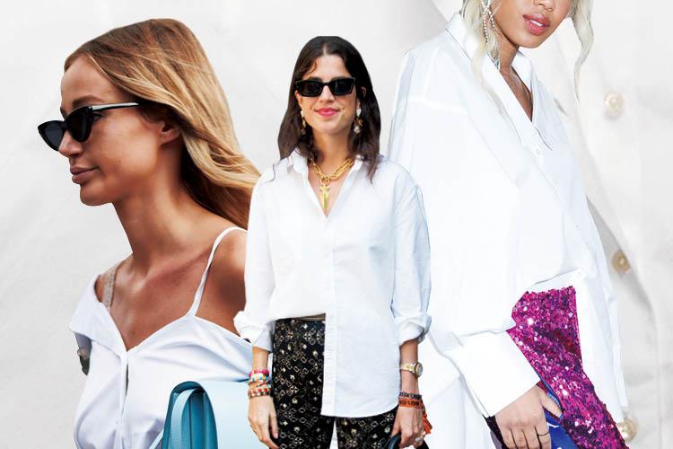 변신의 귀재, 화이트 셔츠를 즐기는 방법 ::화이트셔츠, 에센셜셔츠, 셔츠, 화이트, 엘르, elle.co.kr::
