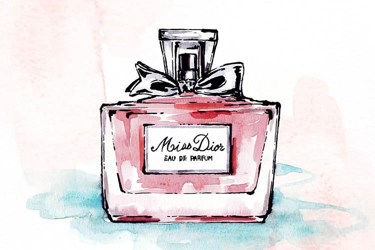 상쾌하고 달콤한 첫향이 도발적인 장미향으로 이어지는 미스 디올(Miss Dior) by 디올  ::니치향수, 수향, 미스디올, 플로럴, 향수, 장미향, 에디터스, 엘르, elle.co.kr::