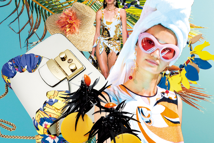 이국적인 야자수와 뜨거운 햇빛이 내리쬐는 팜 비치를 향한 디자이너들의 무한 애정::여름,휴양지,휴양지패션,야자수,팜비치,트렌드,패션,서머,해변,해안가,엘르,elle.co.kr::