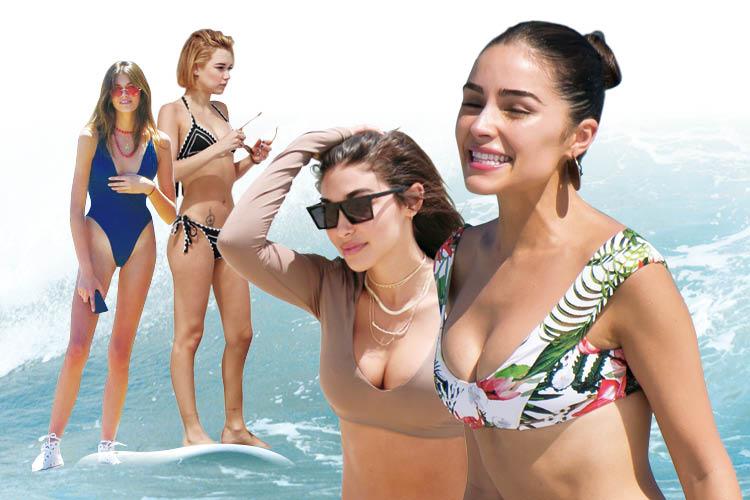 해변에서 만나 화끈한 여인들의 '핫'한 수영복 열전! ::비키니, 코트니카다시안, 트로피컬프린트, 수영복, 사라스나이더, 카이아조던거버, 베이키니, 엘르, elle.co.kr::