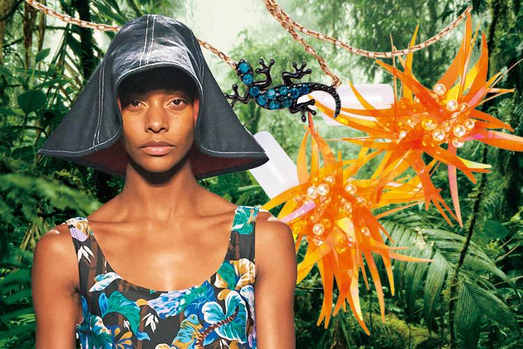 웅장한 밀림 속으로 인도한 패션 어드벤처 ::열대우림, 이국적, 밀림, 아마조네스, 스타일, 엑조틱, 패턴, 엘르, elle.co.kr::