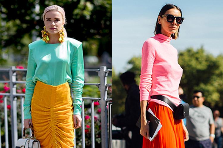 네온 컬러로 거리를 접수한 그녀들 ::벨라 하디드, 스트리트, 패션, 네온, 형광색, 컬러, 스타일, 엘르, elle.co.kr::