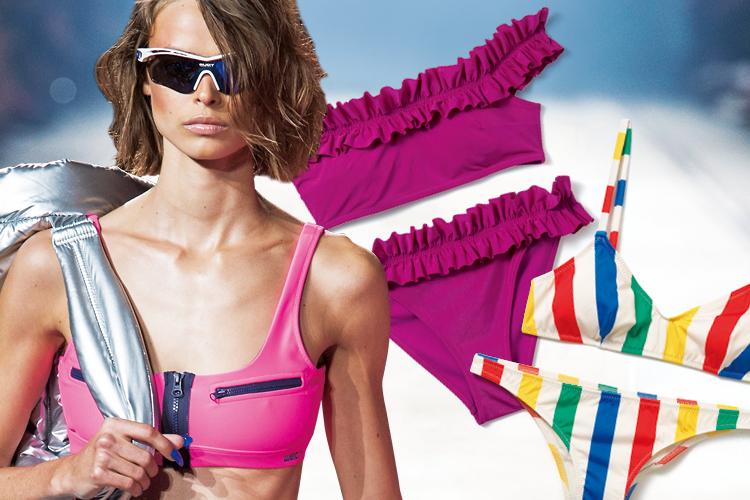 눈부신 햇빛처럼 강렬한 잔상을 남기는 컬러풀 비키니::비키니,컬러풀,해변,비치웨어,스위밍룩,쇼핑,패션,엘르,elle.co.kr::
