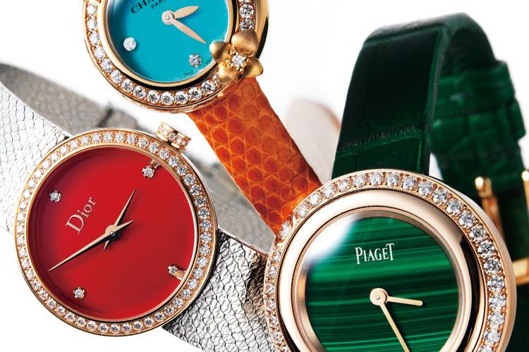 강한 에너지가 느껴지는 오색찬란 다이얼::시계,워치,컬러풀,다이얼,손목시계,패션,액세서리,엘르,elle.co.kr::