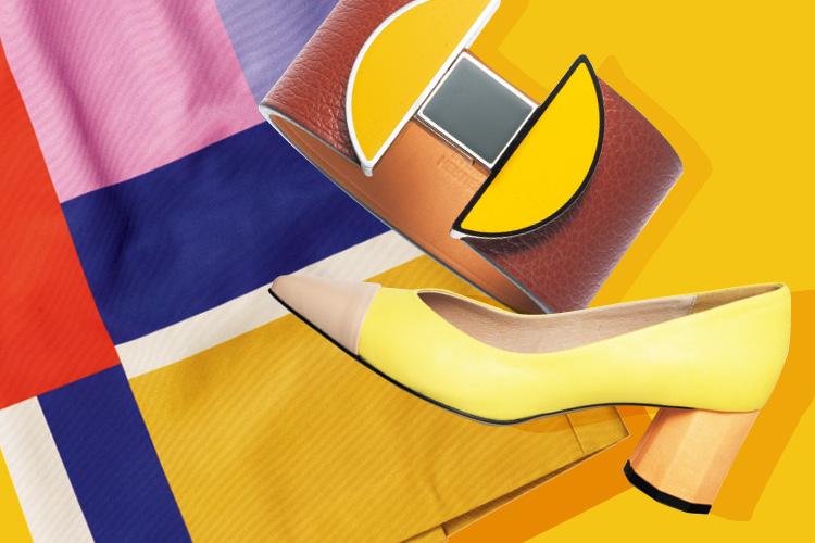 테트리스 조각을 맞추듯 완성된 총천연색의 컬러 블로킹 아이템 ::가을, 패션, 가을컬러, 가을패션, 가을액세서리, 블로킹, 블로킹아이템, 엘르, elle.co.kr::