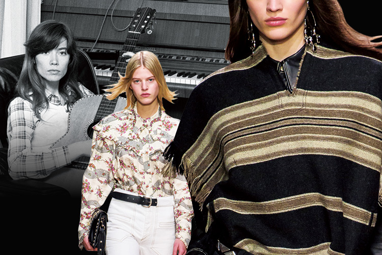 1970년대에 유행했던 음악과 패션은? 지금 봐도 너무 예쁜 그 시절의 키 룩! ::70년대, 70년대 패션, 조니 미첼, 포크록, 제인버킨, 패션, 엘르, elle.co.kr::