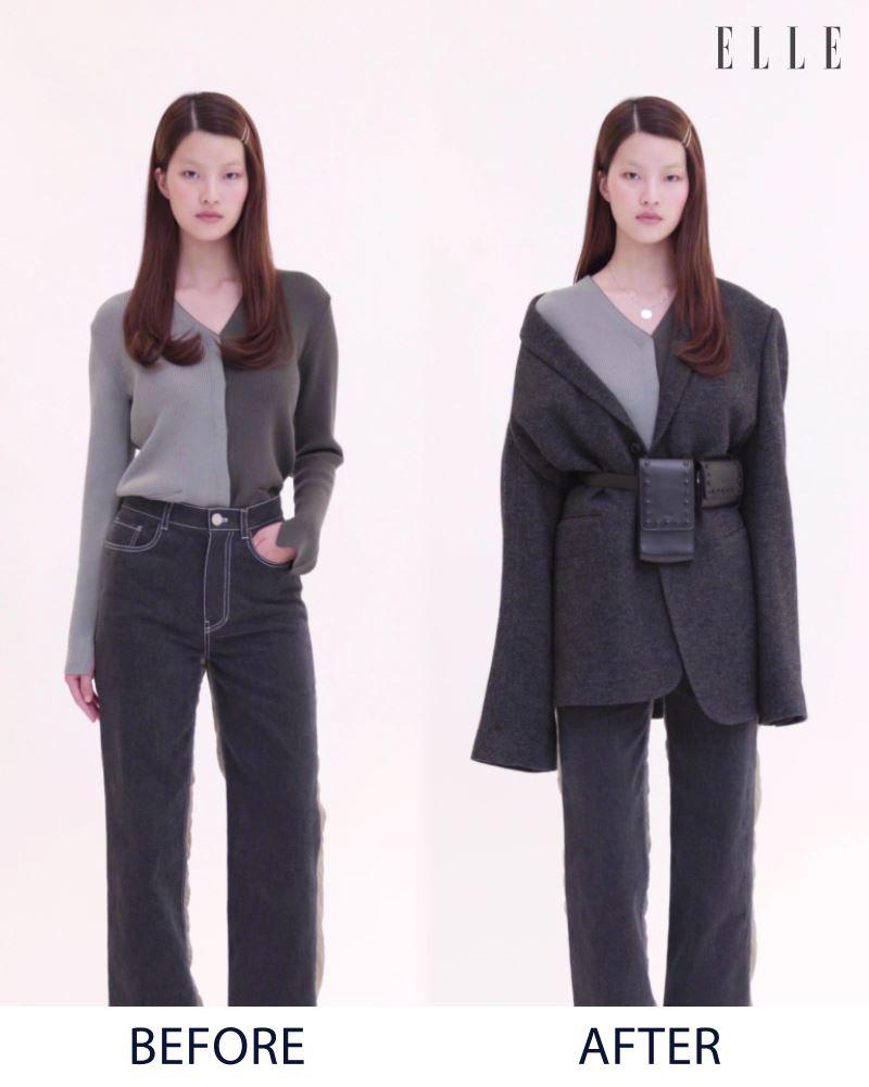 요즘 같은 날씨에 딱, 툭 걸쳐 입기만해도 근사한 오버사이즈 재킷! 스타일링의 한끗 차이를 즐기고 싶다면, 유행템인 벨트백과 함께 '이렇게' 연출해보세요.