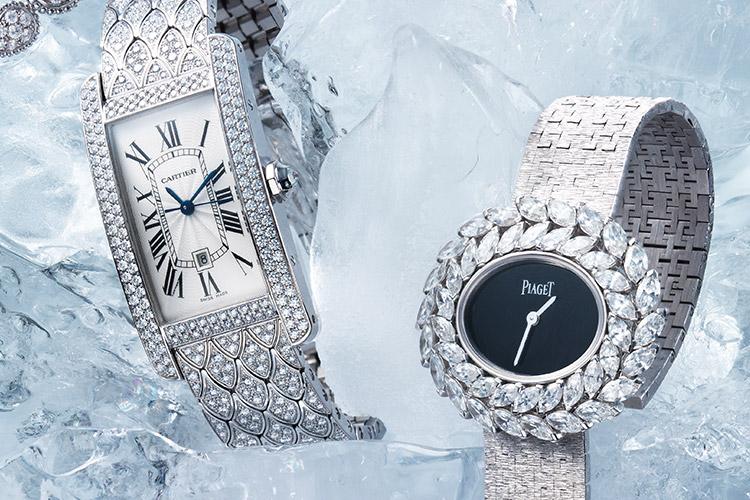 찬란한 빛의 파편이 손목을 우아하게 감싼다. 겨울의 청명함을 닮은 주얼 워치의 마법::워치,주얼 워치,손목시계,시계,액세서리,쥬얼리,다이아몬드,패션,엘르,elle.co.kr::