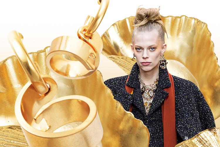 탁! 하고 얼굴에 조명을 비춘 듯 자신감을 더해주는 금빛 터치::골드, 골드 주얼리, 주얼리, 금, gold, 액세서리, 패션, 엘르, elle.co.kr::
