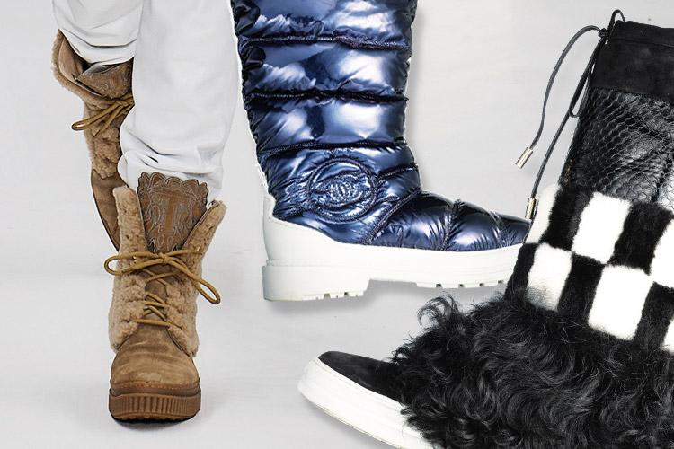 스타일과 보온성을 겸비한 개성 만점 스노 부츠::스노부츠,부츠,방한템,보온,신발,슈즈,패션,엘르,elle.co.kr::