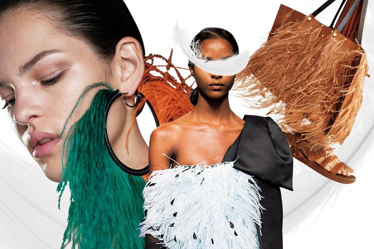 우아하게 흩날리던 페더 룩은 공작새가 날개를 펼친 것처럼 아름답다!::페더, 깃털, 페더 룩, 쿠튀르, 패션, 트렌드, 엘르, elle.co.kr::