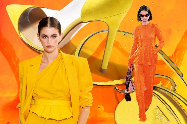비타민을 깨문 것처럼 톡 쏘는 컬러 테라피::컬러, 오렌지, 레몬, 비타민 컬러, 컬러 테라피, 패션, 엘르, elle.co.kr::