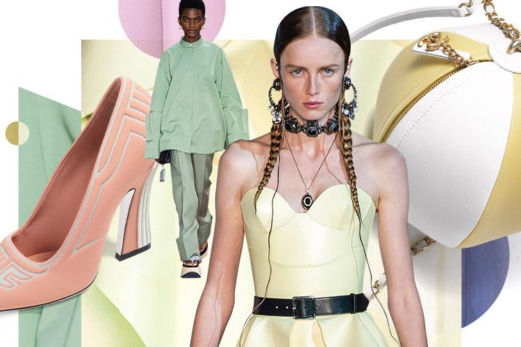 화사한 봄의 색을 입은 파스텔 룩의 로맨티시즘::파스텔, 파스텔 룩, 봄, 컬러, 마카롱 컬러, 패션, 엘르, elle.co.kr::