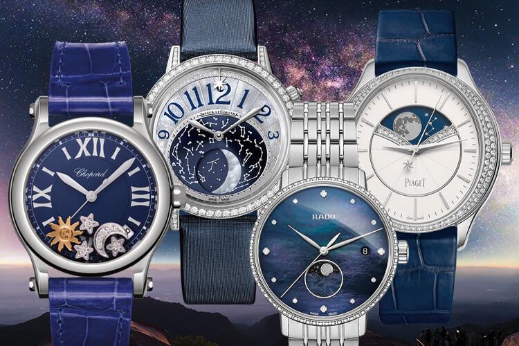 작은 다이얼에 달과 별, 짙푸른 밤하늘을 담아 우주에 대한 경외를 표현한 하이엔드 시계들::시계,워치,하이엔드시계,우주,스페이스,액세서리,엘르,elle.co.kr::